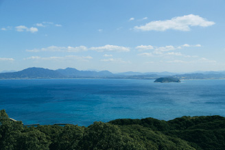 大島御嶽山展望台からの眺望の写真